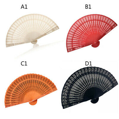 1x Retro Bamboo Folding Hand Held Flower Fan Chinese Dance Party Pocket Gift