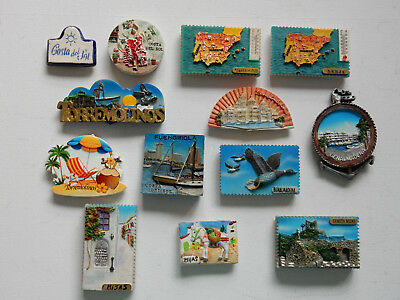 One Selected 3D Souvenir Fridge Magnet from Spain Costa del Sol