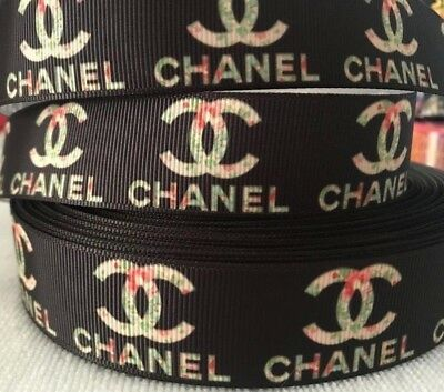 "Chanel grosgrain ribbon 1"" wide sold by 2 M - Craft - Hair bows - Cake etc"