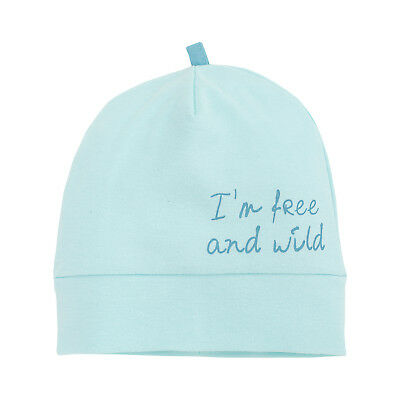 Baby Boy Hat Bonnet 100% Cotton Cute Turquoise Size 0-3 Months