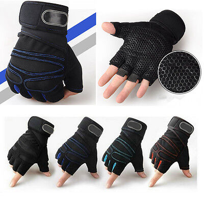 Men Women Weight Lifting Gloves Training Gym Straps Fitness Bodybuilding Workout