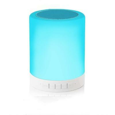 Alenbrathy Bedside Lamp with Wireless Bluetooth Speakers Touch Dimmable Table