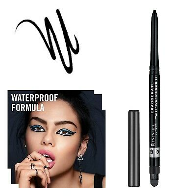 MATITA OCCHI NERA WATERPROOF PUNTA MORBIDA LUNGA TENUTA MAKE UP Rimmel London
