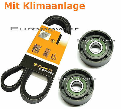 V-Ribbed Belts Set + Tension Pulley Renault Laguna Scenic 1.6/1.8 16V New