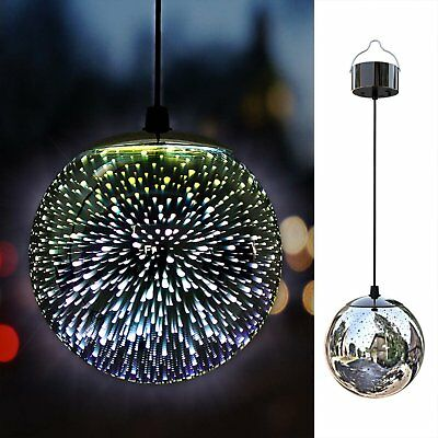 TAKEME Solar Lights Outdoor Garden,Hanging Outdoor Decor Lights,Gazing Ball