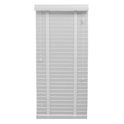 LUXURY WHITE FAUX WOOD 50mm VENETIAN BLINDS MANY SIZES UP TO 240cm x 240cm TAPES