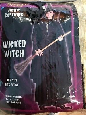 """SPIRIT Halloween Adult Costume """"Wicked Witch"""" One Size Fits Most Worn Once"""