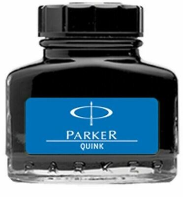 Parker Quink Ink Bottle in Blue colour for Fountain Pen 30ml Free Shipping