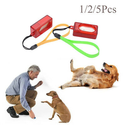 Mini Dog Pet Click Clicker Training Obedience Agility Trainer Aid Wrist Strap.