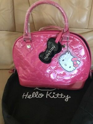 96ded983f Hello Kitty Sanrio Pink Patent Leather Embossed Loungefly Bag W/Dust Bag NWT