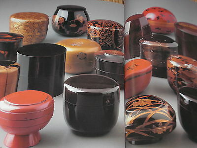 Japanese Tea Ceremony Tools Art Book Chadogu no Sekai 6 NATSUME Lacquered Caddy