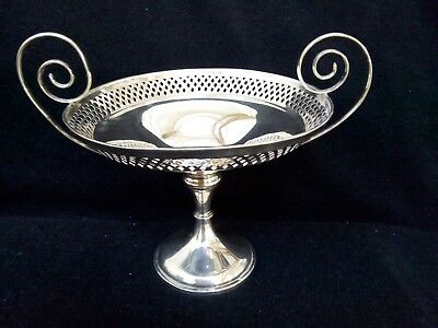 Sterling Silver Footed Dish Fruit Bowl by Walker & Hall Sheffield arts crafts