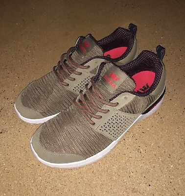 776075a27b1b Supra Scissor Olive Stone Men s Size 10 US Running Skate Shoes Sneakers