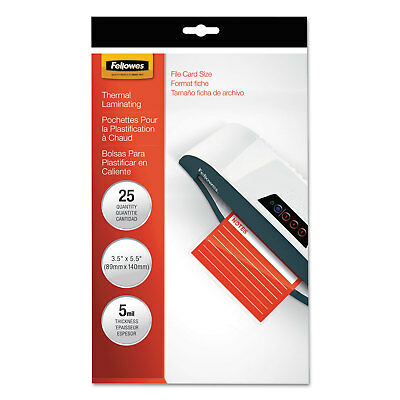 Fellowes Laminating Pouches 5mil 4 1/2 x 6 1/4 25/Pack 52010