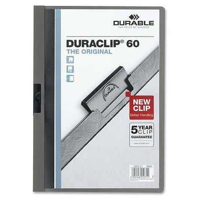"Durable DuraClip Report Cover 60 Sheet Capacity 11""x8-1/2"" Graphite 221457"