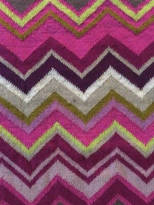 Missoni for Target Baby Sweater Blanket Passione Throw Chevron Pink Purple Rose
