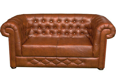 Chesterfield Sofagarnitur Couch Polster 3+2+1 Leder Sitz Sofa Garnitur  BANTRY
