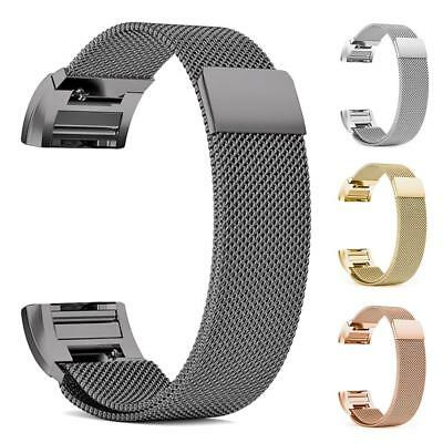 Milanese Magnetic Loop Stainless Steel Watch Band Strap for Fitbit Charge 2 BEST