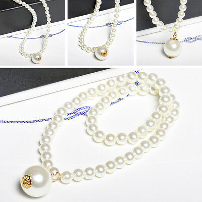 Necklace Lovely Imitation Pearl Pendant Accessories Princess Children Girls