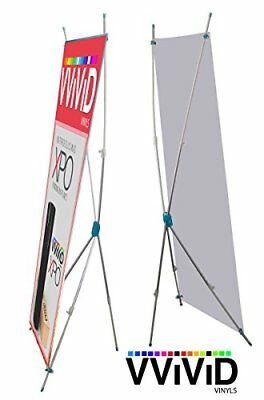 "VViViD Graphic Display Banner Stands 32"" x 72"" Telescoping X Stand"
