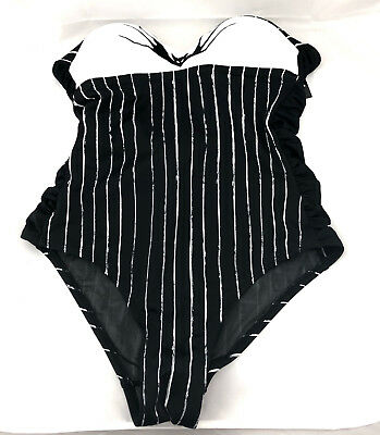 664da91ffd Nightmare Before Christmas Jack One Piece Swimsuit Small 11176607 New  DEFFECTIVE