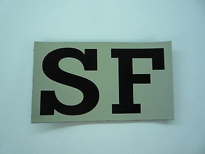 """Sf Ir Patch Magic Black On Tan 3.5"""" X 2"""" Reject#200 With Velcro® Brand Fastener"""