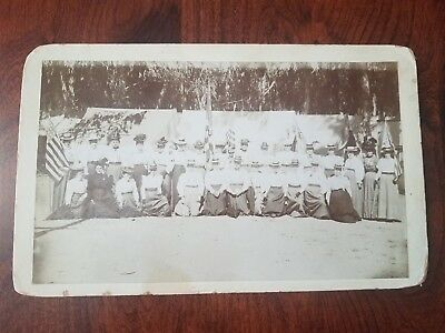 1898 GAR Womens Relief Corps Reunion Cabinet Card Photo Long Beach California