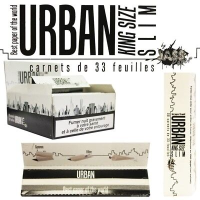 Box de 50 carnets de Feuilles slim Urban King size by Jass France Qualité Top P