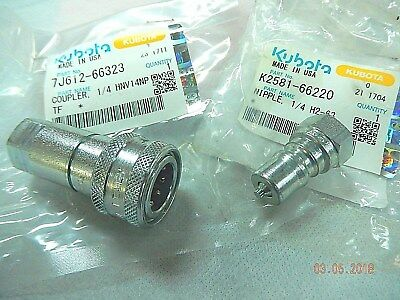 KUBOTA Loader #4 Hydraulic Quick Couplings K2581-66220 + 7J612-66323 (1 set)
