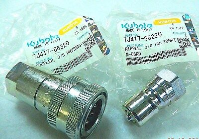KUBOTA LA525, LA513 Loader Hydraulic Quick Couplings #6 - 66220 + 66320 (1 set)
