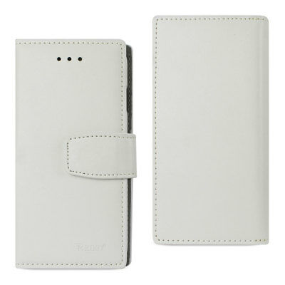 Reiko iPhone X Genuine Leather Wallet Case With Rfid Card Protection In Ivory