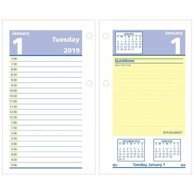 "AT-A-GLANCE® QuickNotes® Daily Loose-Leaf Desk Calendar Refill, 3 1/2"" x 6"", Jan"