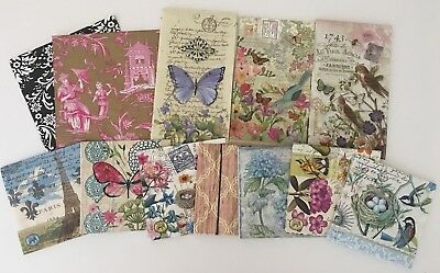 Set of 12 Paper Napkins for Decoupage Paper Crafts 3ply