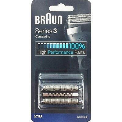 Braun 21B Series 3 Electric Shaver Replacement Foil and Cassette Cartridge Black