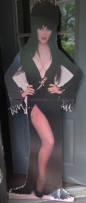 """1993 Elvira """"Mistress of the Darkness"""" full sized standee Signed Horror Icon"""