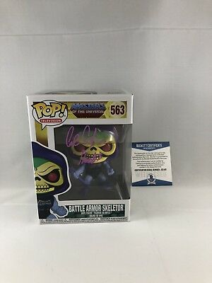 Alan Oppenheimer Signed Masters Of The Universe Skeletor Funko Pop Beckett 11