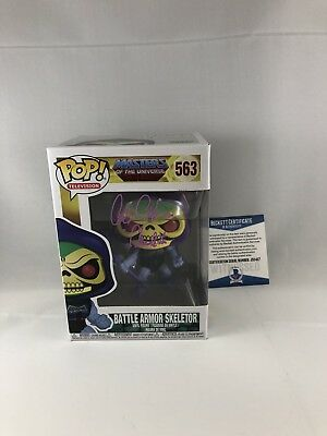 Alan Oppenheimer Signed Masters Of The Universe Skeletor Funko Pop Beckett 12