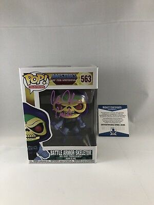 Alan Oppenheimer Signed Masters Of The Universe Skeletor Funko Pop Beckett 13