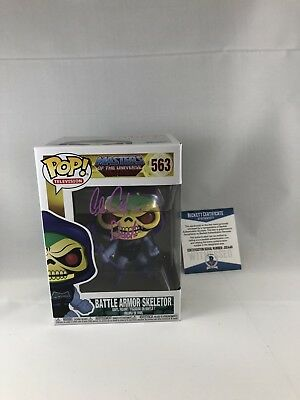 Alan Oppenheimer Signed Masters Of The Universe Skeletor Funko Pop Beckett 16