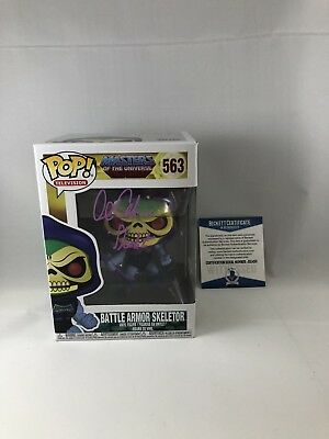Alan Oppenheimer Signed Masters Of The Universe Skeletor Funko Pop Beckett 17