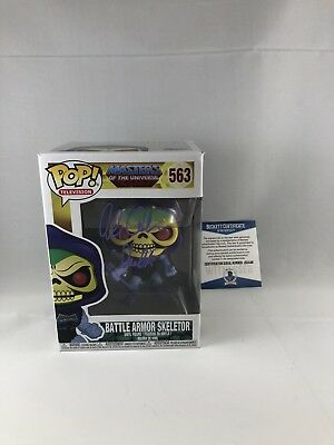 Alan Oppenheimer Signed Masters Of The Universe Skeletor Funko Pop Beckett 18