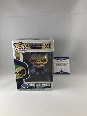 Alan Oppenheimer Signed Masters Of The Universe Skeletor Funko Pop Beckett 19