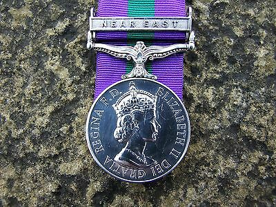 QE 11R General Service Medal 1918 - 1962 (Near East) R.A.S.C.