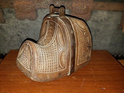 Beautiful Hand Carved Antique Spanish Wooden Stirrup From the 1800's