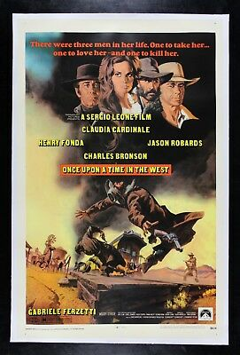 ONCE UPON A TIME IN THE WEST ✯ CineMasterpieces WESTERN ORIGINAL MOVIE POSTER