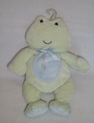 New CARTERS Plush FROG Green Blue Belly Just One Year Baby Stuffed Animal Toy