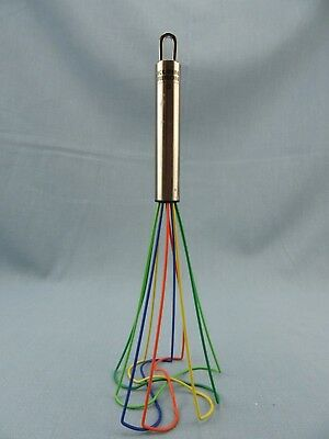 "Kuhn Rikon 10"" Tornado Whisk Rainbow Silicone & Stainless Steel Handle"