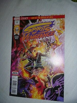 Spirits Of Vengeance #4 Ghost Rider Marvel Nm 2018 War At The Gates Of Hell Pt 4