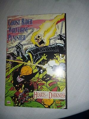 Ghost Rider Wolverine Punisher Hearts Of Darkness Tbp Marvel Fold Out Cover Nm
