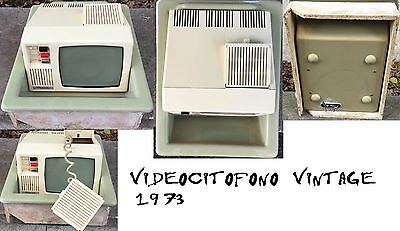 Videocitofono a tubo catodico vintage video door-phone video intercom del 1973